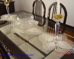 Centro de mesa trio toalhinhas abacaxi