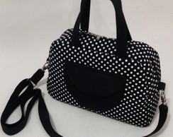 Bolsa Tulipa M�dia - Poa Black and Whit