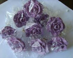 Puxadores  em formato de Rosa Lil�s