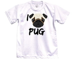 Camiseta Adulto I Love Pug