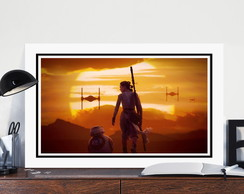 Quadro Star Wars 70x40cm Despertar For�a