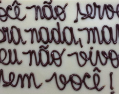 Placa de chocolate personalizada 120g