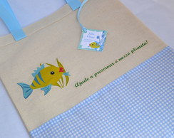 Ecobag personalizada: fundo do mar
