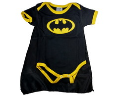 Body Bordado Batman M. Curta GG