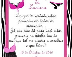 Convite Cha De Lingerie Modelo Marcela Elo7
