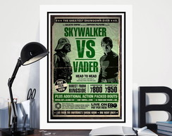 Quadro Star Wars Skywalker Vs Vader