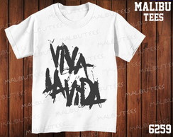 Camiseta Viva la Vida Coldplay rock roll