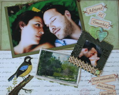 P�gina de Scrapbook Decorada
