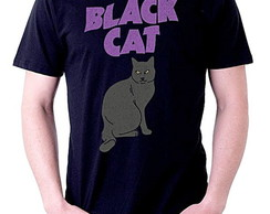 CAMISETA MASCULINA - BLACK CAT