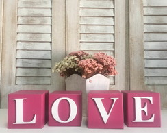 Cubos LOVE - Letras decorativas