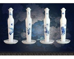 Abajur Lumin�ria LED Porcelana Chinesa