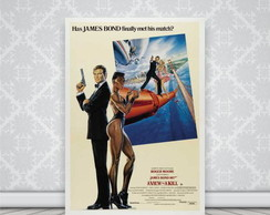 P�ster Placa Filme A View to a Kill
