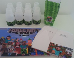 Papelaria Kit Escola Minecraft
