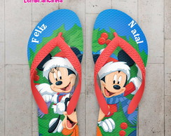 Chinelo Natal Mickey e Minnie