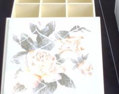 Caixa para bijuterias com azulejo