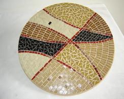 Prato Girat�rio para mesa em Mosaico.