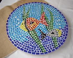 Prato Girat�rio para mesa em Mosaico