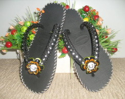 chinelos havaianas bordados