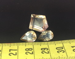 Lot 14 Cts 3pcs Ametrine , 11-17 mm