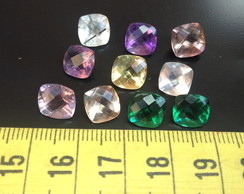 LOT 21cts 10pcs Par Quartzo MiX, 8 mm