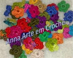 Flor simples de croch� (30 flores)