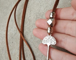 Colar Tree Key Prata Luxo