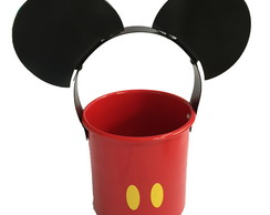 Vaso Cachepot Metal Mickey Mouse