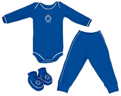 Body Manga Longa Time Cruzeiro-Kit 3p�s