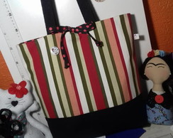 Ecobag dupla face Listras color