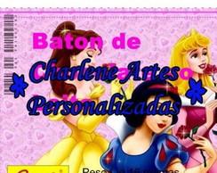 ARTE DO R�TULO PERSONALIZADO DO BATON