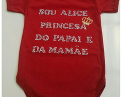 Kit 5 bodies frases personalizadas