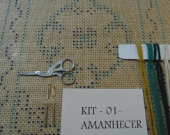 "kit para bordar Arraiolos "" Amanhecer"""
