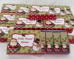 5 Caixas com 4 chocolates wafers d Natal