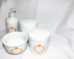 Kit Higiene Beb� porcelana 04