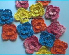 Mini Flores em Croch�