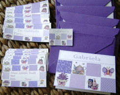 Cart�o Teen Patchwork lavanda