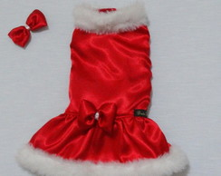 ... Vestido Pet Natal da Mamãe Noel P e M 1a32ab0dc3b7c