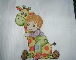 menino com girafa