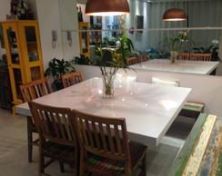 Mesa Jantar de Resina Quadrada 1,10x1,10 comprar usado  Brasil