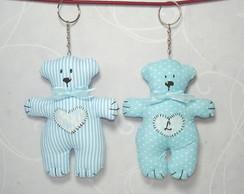 Chaveiro Urso Azul