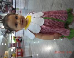 Vestido florzinha tam. 1 e 2 anos