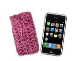 Capa Celular Rosa em Croch�