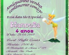 Convite Sininho - Fadas