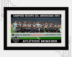Quadro Atl. Mineiro 67x47cm Recopa 2014 comprar usado  Brasil
