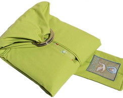 Baby Sling verde c/ desenhinhos