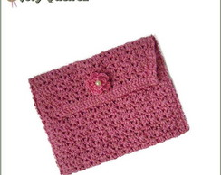 Carteira Croch� Rosa