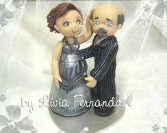 Topo de bolo noivinhos bodas de prata