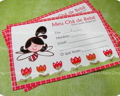 Convites para Ch� de Beb� Menina 25 unid