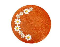 tampo de mesa margaridas laranja
