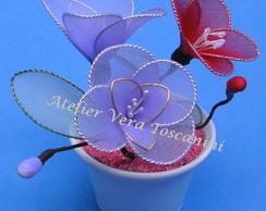 vaso de flores meia de seda!